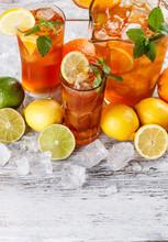 Verres de thé glacé