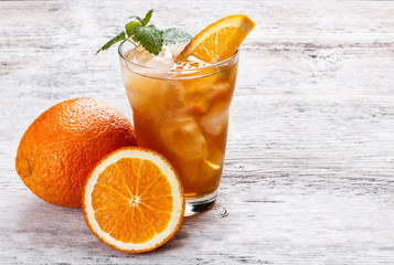 Ice orange tea