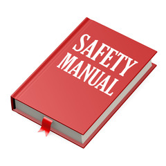 Isolated red book with safety manual