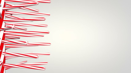 Candy Cane spinning background, with copy space on the right.