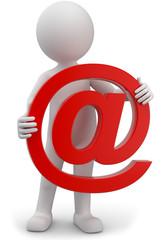 Männchen mit email symbol
