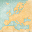 canvas print picture - Map of Europe - Blank Map (Vintage Series)