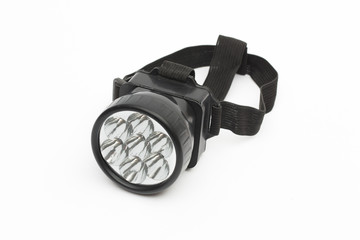 flashlight on the white background
