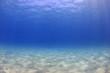 Leinwanddruck Bild - Underwater background - sunlight on ocean floor