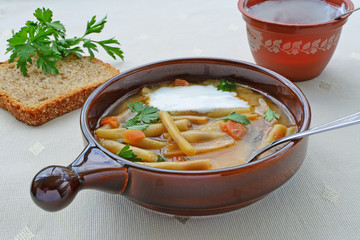 Yellow wax bean soup