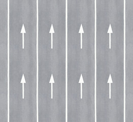 Multiple arrows and lane markings