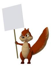 cartoon squirrel with a blank frame