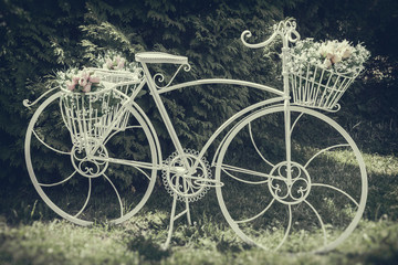 Vintage stylized photo of decorative bicycle