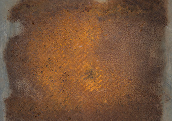 Old rusty metal plate.