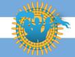 Argentina Soccer Fan Flag Cartoon