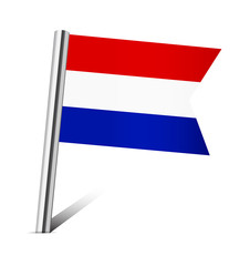 Netherlands flag pin