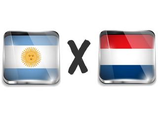 Argentina versus Netherlands Flag Soccer Game