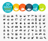 Fototapety 77 High quality food icons, including meat, vegetable, fruits, s