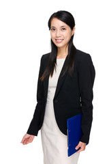 Business woman with file pad