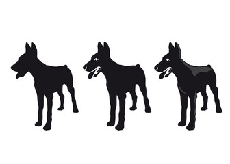 Vector silhouette of a dog