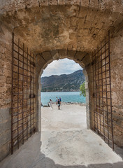 gate at Spinalonga fortress, Crete, Greece