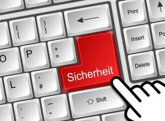 Tastatur Enter Sicherheit rot