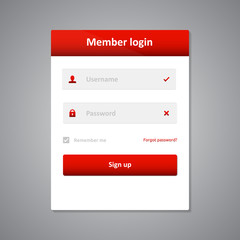 Member login template