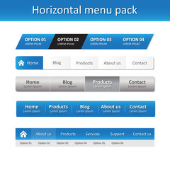 Horizontal menu pack