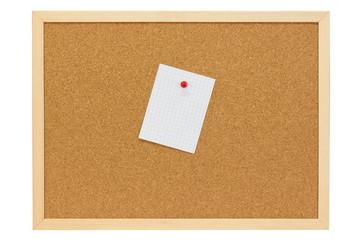 Weiße Notiz