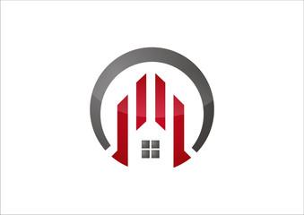 circle  architectural building logo vector