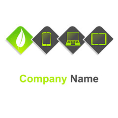 logo tablette numérique ordinateur portable téléphonie