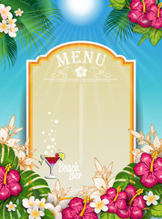 Tropical Paradise Landscape  Menu
