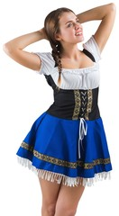 Pretty oktoberfest girl smiling