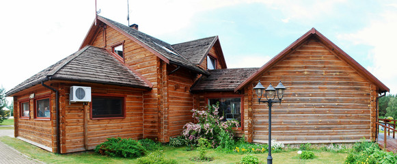 Wooden house in the lithuanian village
