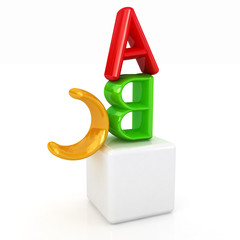 alphabet and blocks