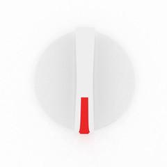 3d white knob