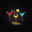 cocktail summer party design menu background - 67205332