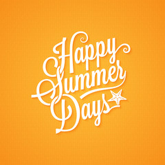 summer vintage lettering background