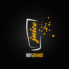 orange juice splash glass design background