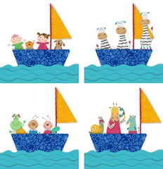 Pets and children traveling by boat