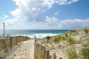 Strandweg in Lacanau Ozean
