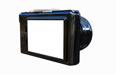 3d illustration of photographic camera
