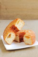 Trendy pastry, half donut and half croissant