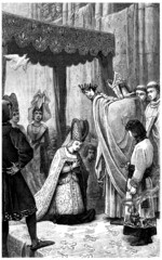 Crowning a Medieval Queen - end 14th century