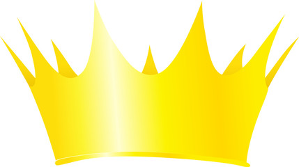 Royal crown vector illustration isolated on white background