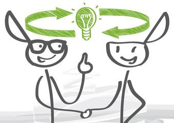 Gedankenaustausch, Teamarbeit