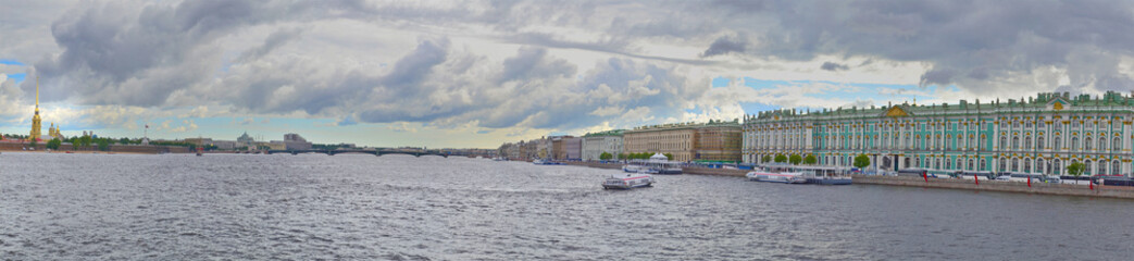 panorama of Neva river
