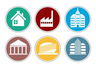 Color building icon set