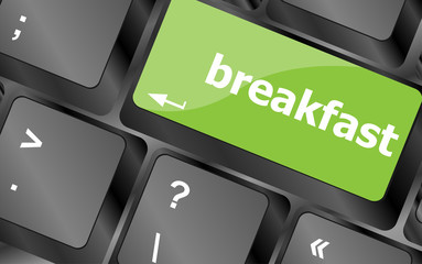 breakfast word on keyboard key