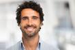 Leinwandbild Motiv Smiling man portrait