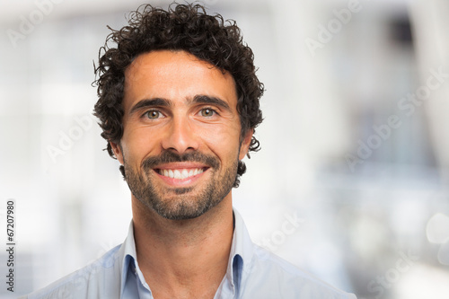 canvas print picture Smiling man portrait