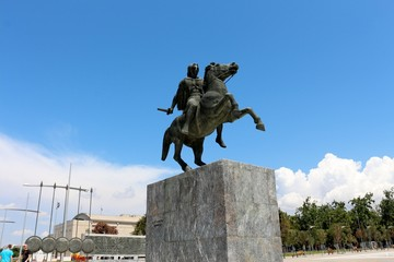 Statue of Alexander the Great , Thessaloniki, Greece