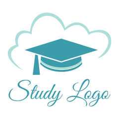 Graduation cap  Webinar logo