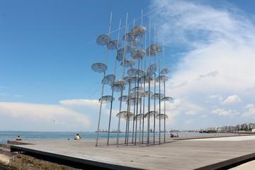 The Umbrellas Sculpture, Thessaloniki, Greece