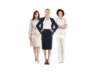 Team of businesswomen looking at camera